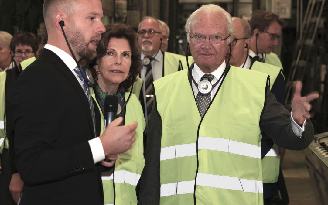 The Royal couple visited Lessebo Paper