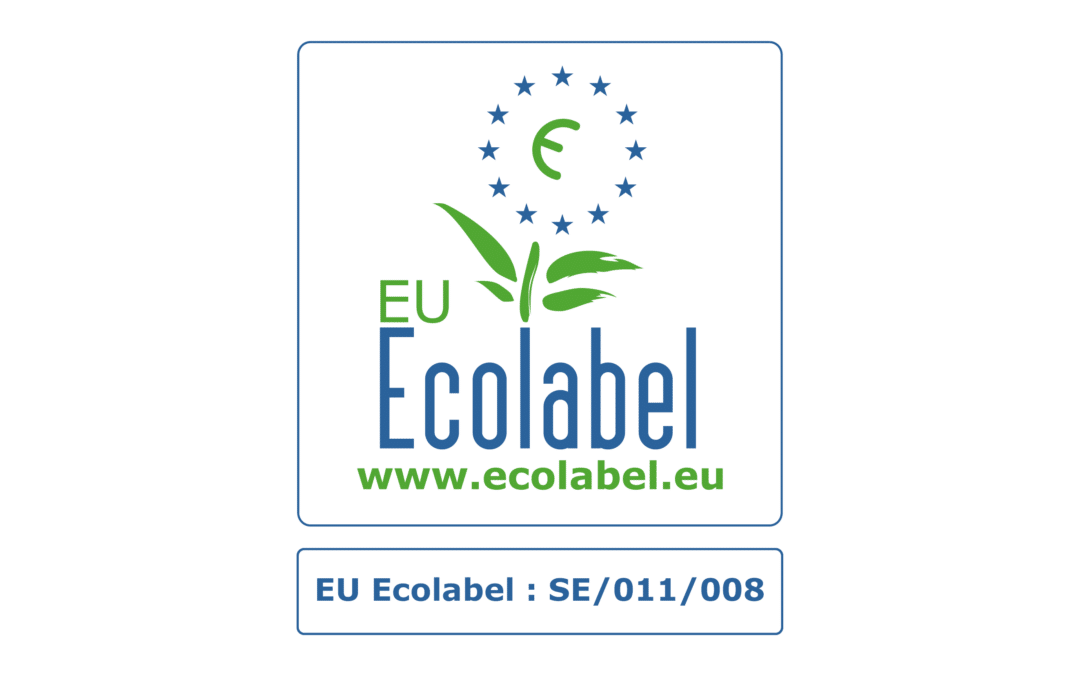 Lessebo Recycled is awarded with EU Ecolabel